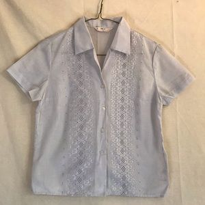 Lilac embroidered shirt